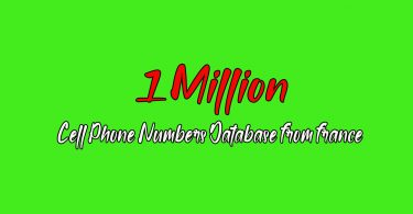Get 1 Million France based Phone Number's Active Database