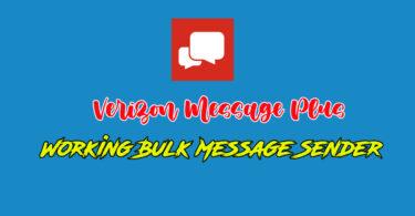 Verizon Bulk Sender for message plus